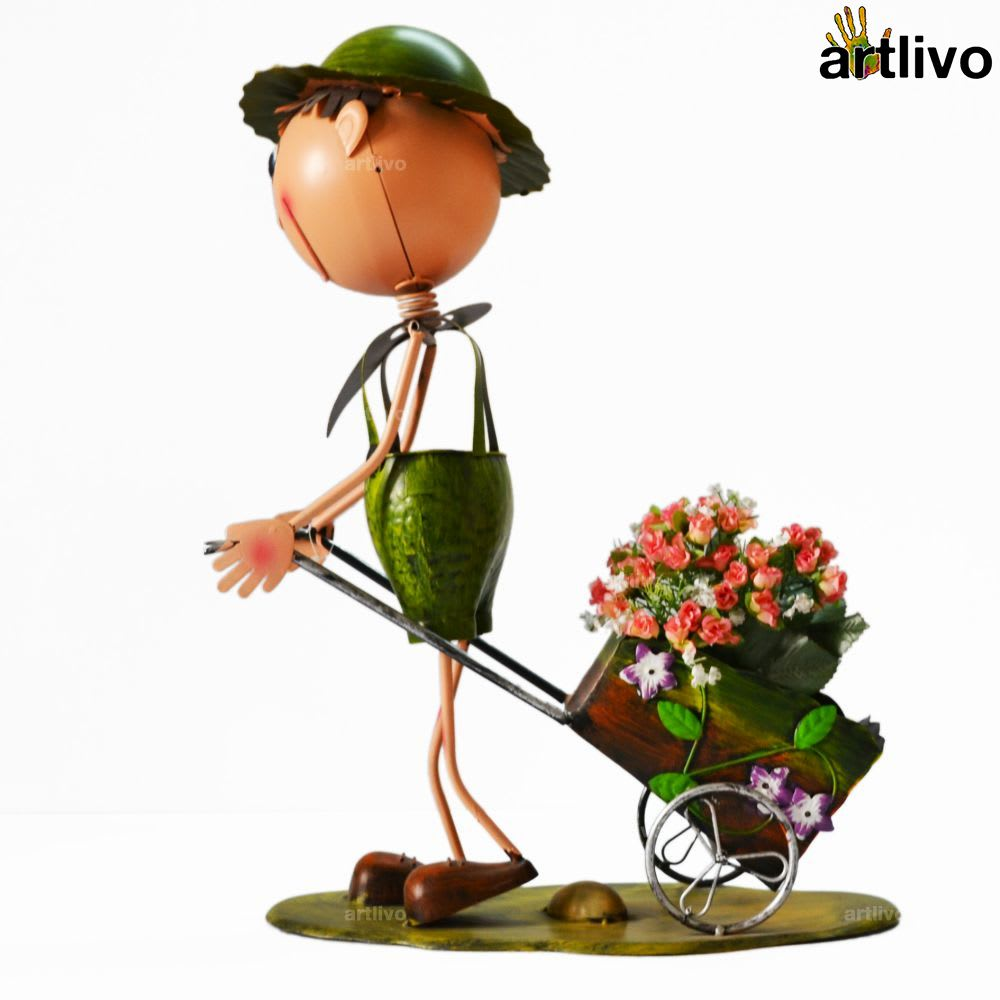 POPART Table Decorative Flower Man Showpiece