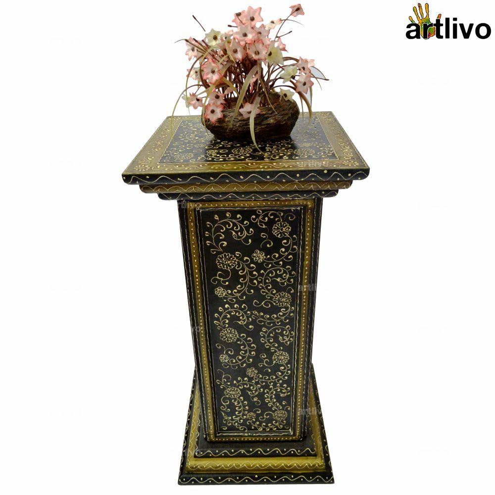 EMBOSSED 3 Drawer Pillar Table