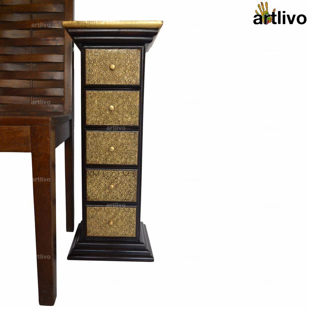 BLING 5 Drawer Pillar Table