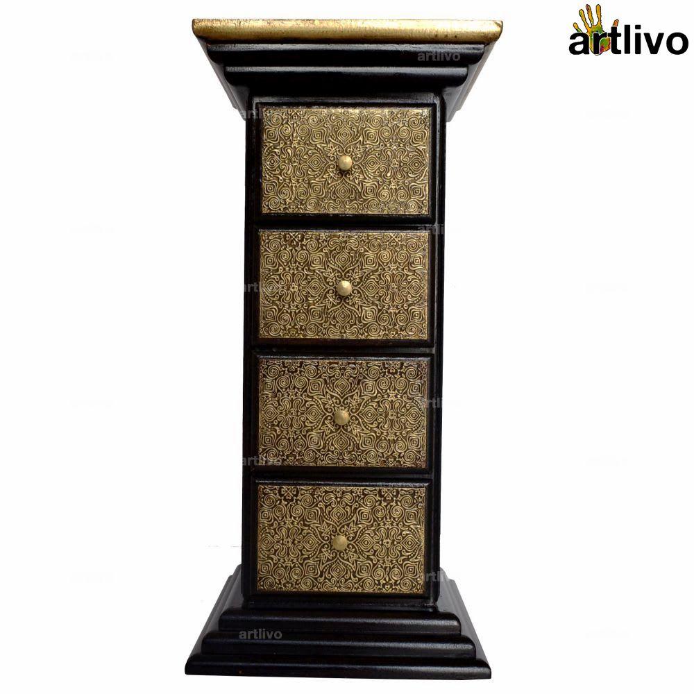 BLING 4 Drawer Pillar Table - TA045