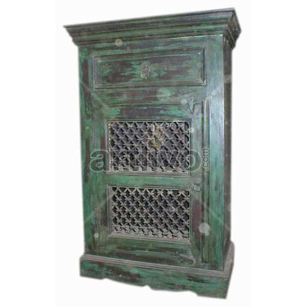 Antique Indian Carved Superb Solid Wooden Teak Almirah