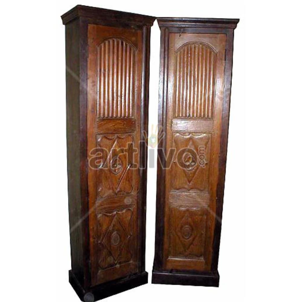 Old Indian Beautiful Deluxe Solid Wooden Teak Almirah