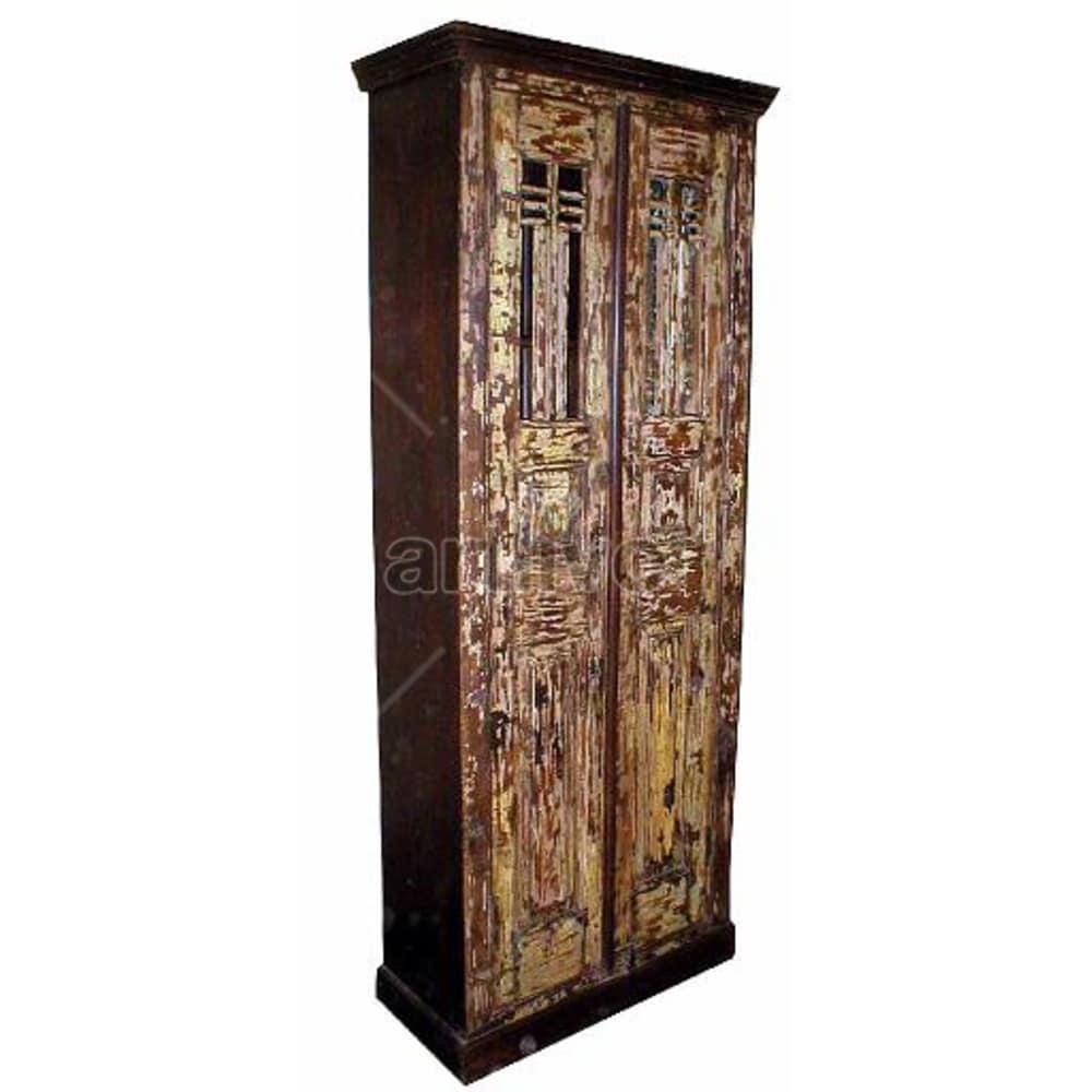 Old Indian Beautiful Lavish Solid Wooden Teak Almirah