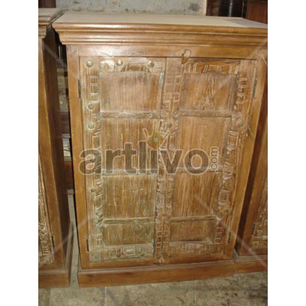 Old Indian Brown noble Solid Wooden Teak Almirah