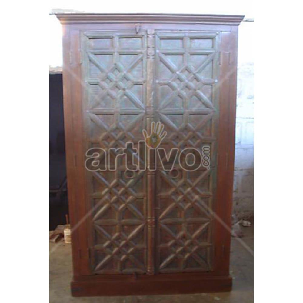 Restored Beautiful imperial Solid Wooden Teak Almirah