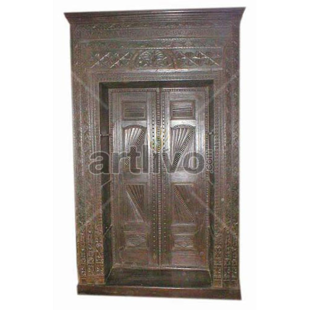 Vintage Indian Beautiful Magnificent Solid Wooden Teak Bookshelf