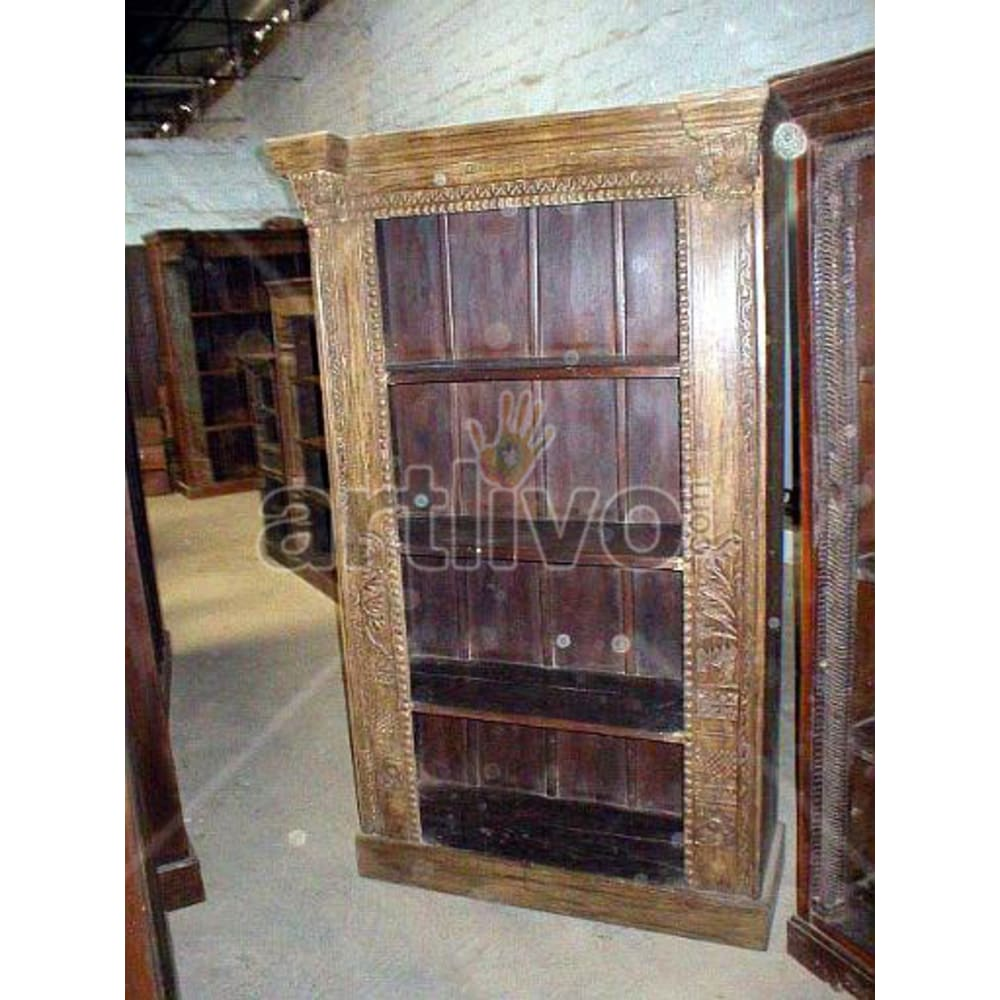 Antique Indian Beautiful Splendid Solid Wooden Teak Bookshelf