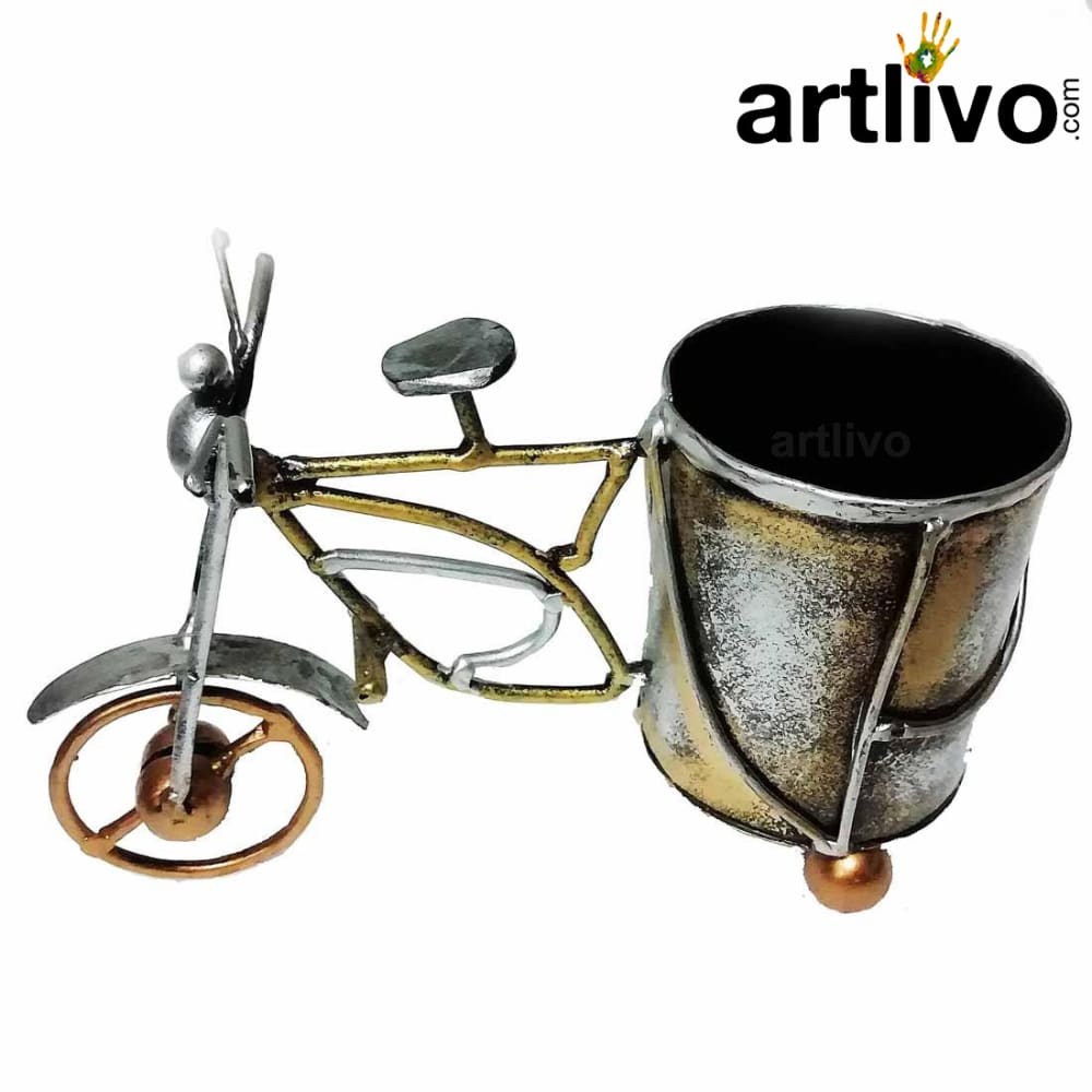 Artisitic Vintage Cycle Pen Stand