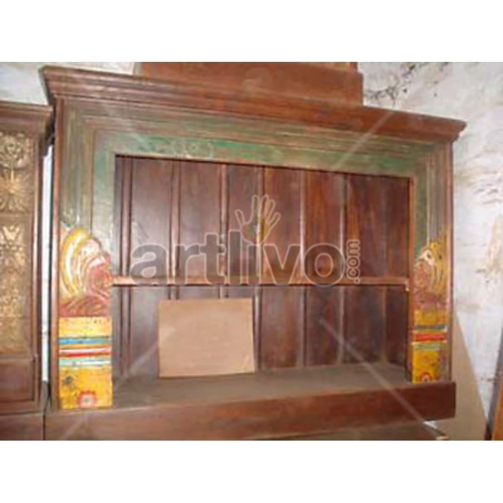 Antique Indian Sculpted Rich Solid Wooden Teak Sideboard