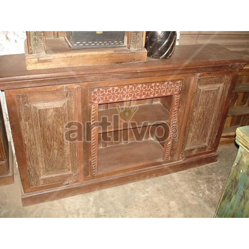 Old Indian Beautiful imperial Solid Wooden Teak Sideboard