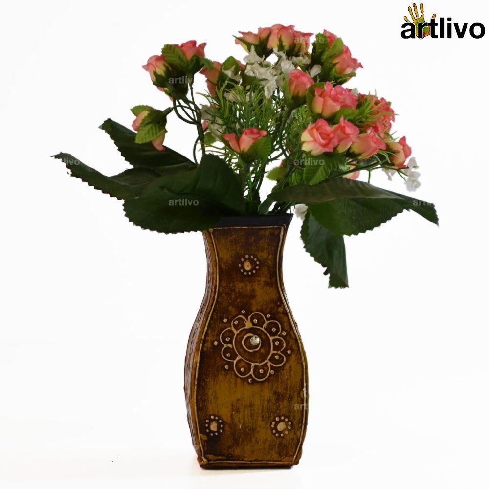 EMBOSSED Albatross Flower Vase