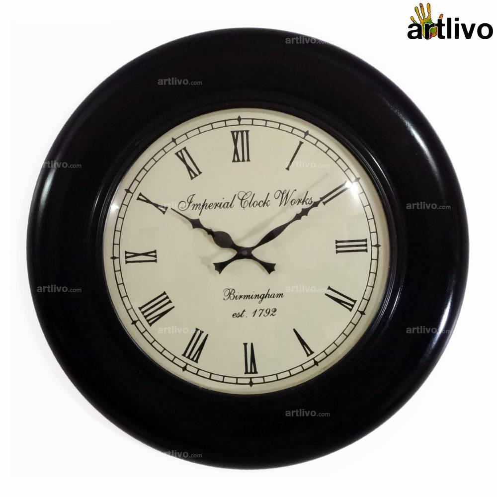 "UBER ELEGANT Shield Round Wall Clock 18"""