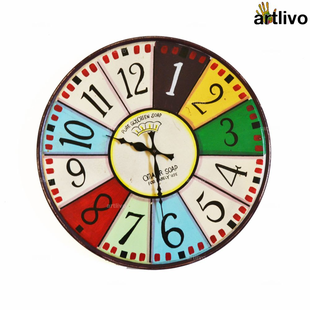 POPART Vibgyor Round clock - English