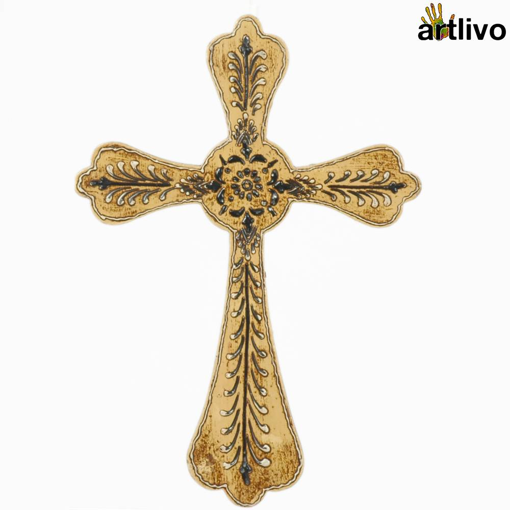 EMBOSSED Wall Hung Cross - WH017