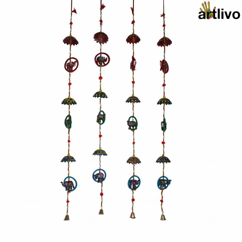 POPART Umbrella-Bangle-elephant Wall Hanging - Set of 4