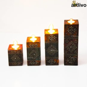 EMBOSSED Steps Candles Set