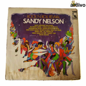 VINTAGE Gramophone Record - Sandy Nelson (With Cover)