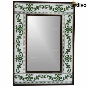 "22"" Decorative Bathroom Wall Hanging Tile Mirror Frame - MR070"