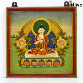 Calm Buddha Painting on Wood