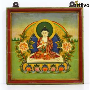 Calm Buddha Painting on Wood