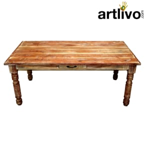 Wooden Long Dining Table With Drawer