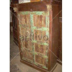 Vintage Indian Beautiful Rich Solid Wooden Teak Almirah