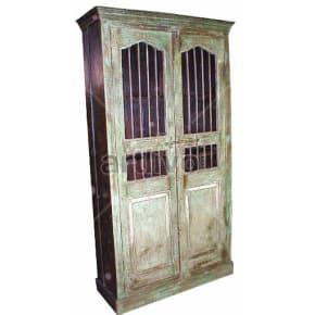 Vintage Indian Beautiful stately Solid Wooden Teak Almirah