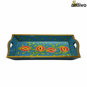 POPART Wooden Serving Tray - Blue