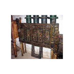 Antique Indian Beautiful Plush Solid Wood colorfull design Trunk