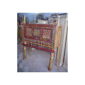 Antique Indian Beautiful Superb Solid Wood colorfull design Trunk