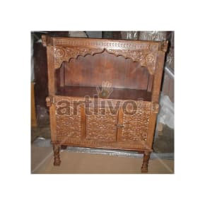 Old Indian Carved Unique Solid Wood brown color Trunk