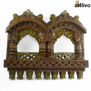 Small Wooden Double Jharokha