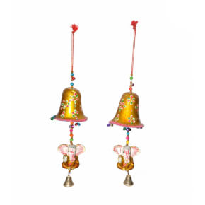 POPART Bell with Ganesha Wall/ Car Hanging - Set of 2