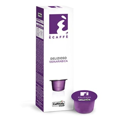 Écaffé Delizioso package and capsule for Caffitaly