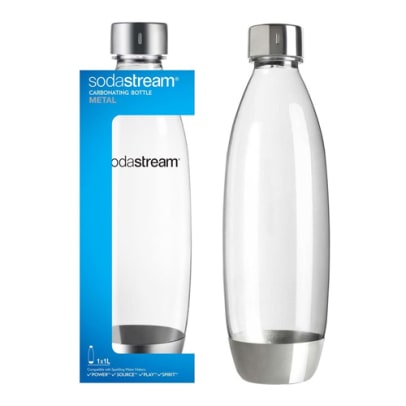 1 l. SOURCE-bottle with metal base SodaStream Metal - Play/Source