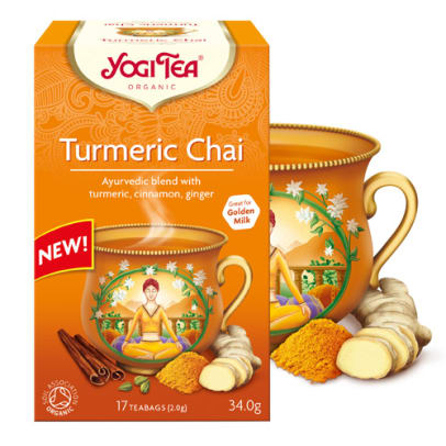Turmeric Chai tea from Yogi Tea