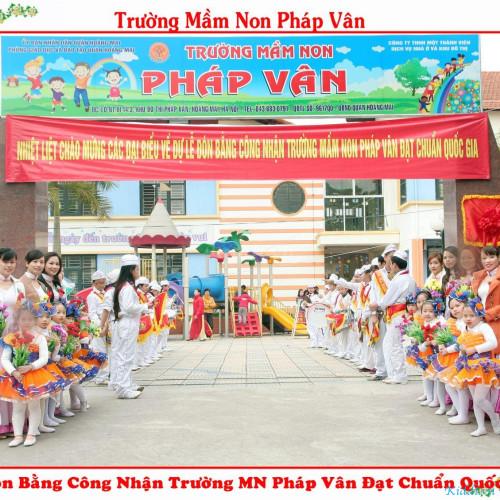Trường mầm non Pháp Vân - Khu đô thị Pháp Vân