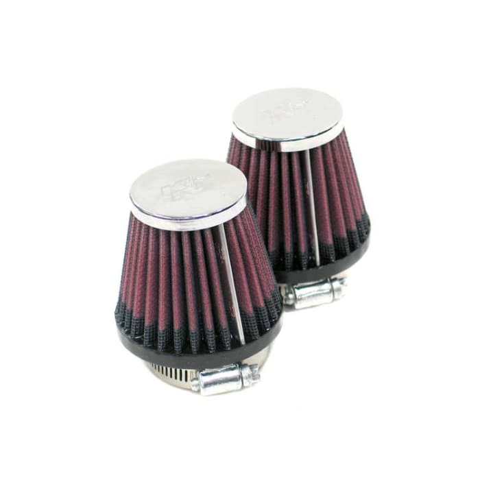 K/&N RC-1250 Car and Motorcycle Universal Chrome Filter
