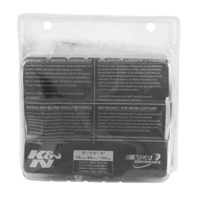 "Round Tapered//Centered K/&N RG-1001BL Universal Chrome Air Filter 5.5/"""
