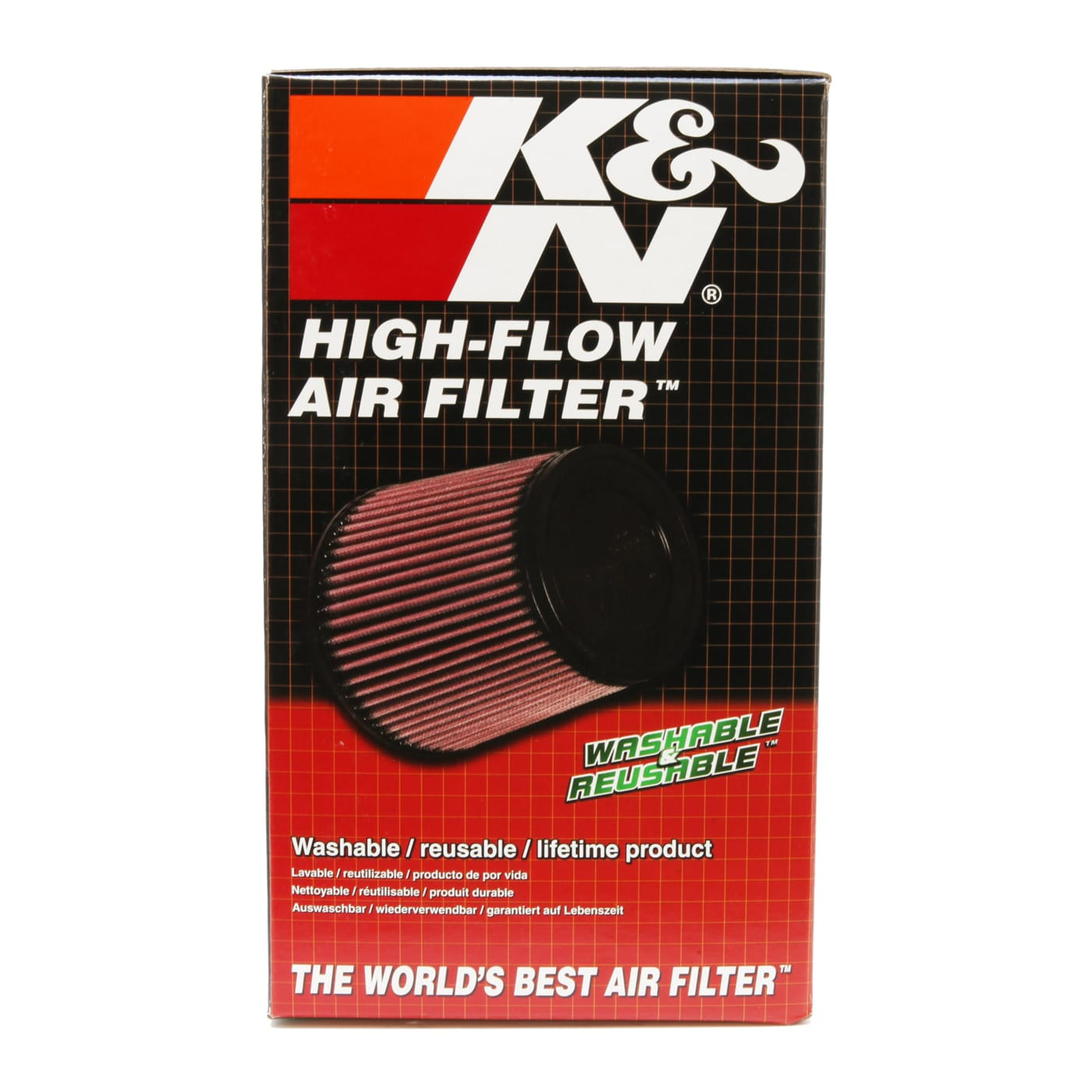 K/&N Filters RE-0810 Universal Air Cleaner Assembly