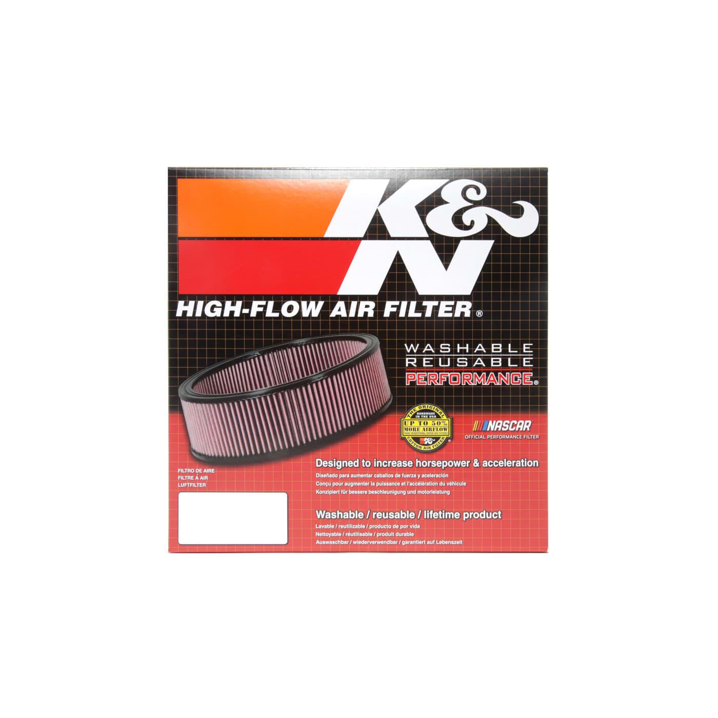 K/&N E-1150 Voitures Filtre /à air de Remplacement Lavable et R/éutilisable