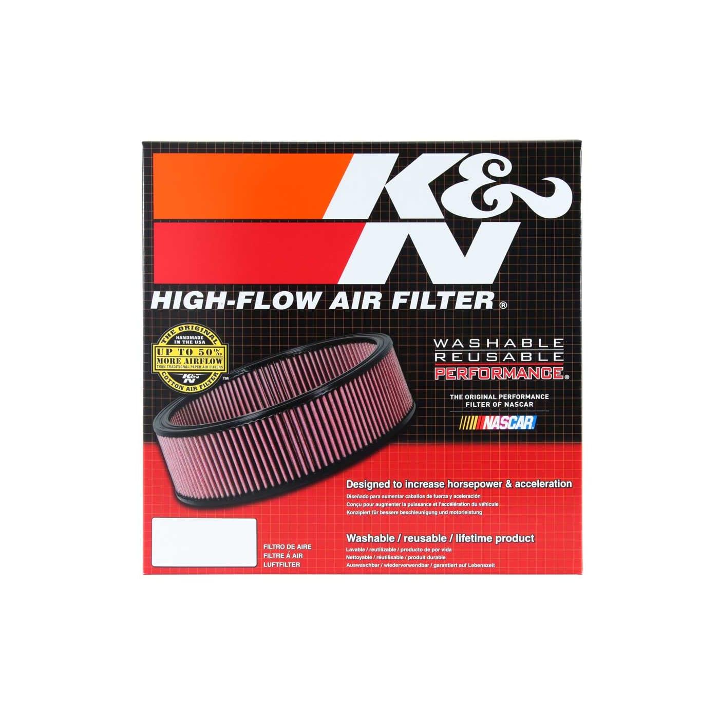 K/&N Filters E-3650 Hi-Flow Air Intake Filter