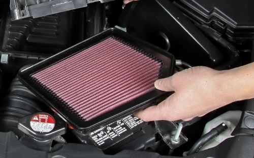 installing a K&N engine air filter