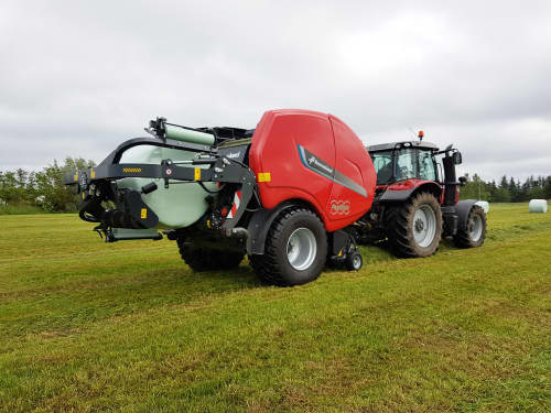 Fixed Chamber Baler-Wrapper combinations - FastBale Kverneland, revolutionary solution that produces bales nonstop