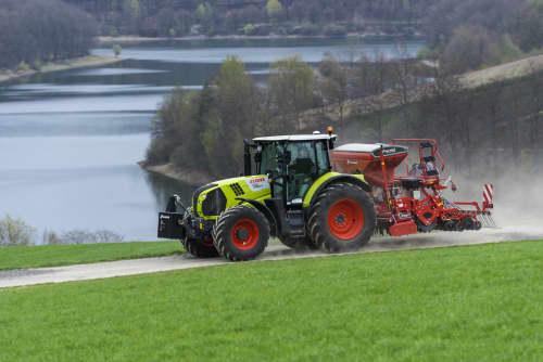 Kverneland e-drill maxi pluss, combined grain and fertilizer model