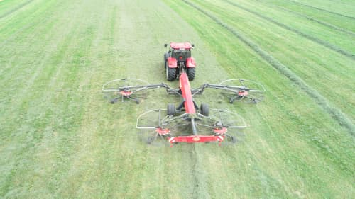Four Rotor Rakes - VICON ANDEX 1304 PRO, super efficient in use during field operation with ISOBUS option