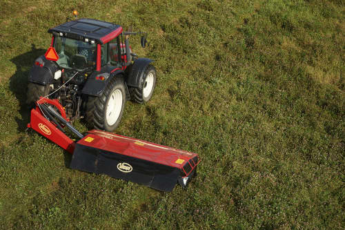 Plain Mowers - VICON EXTRA 228 - 232 - REAR MOUNTED DISC MOWERS, side mounted mowers working angles up to 35°