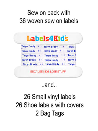 Sew On Labels Pack