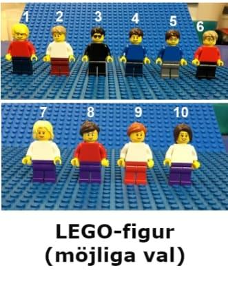 LEGO® Nyckelring - Minifgur med namn på