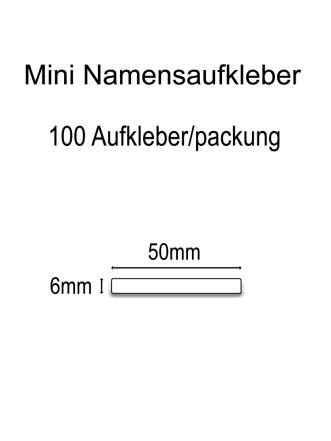 Mini Vinylaufkleber